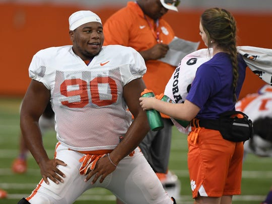 At 6-foot-5, 345 pounds, Dexter Lawrence is the largest
