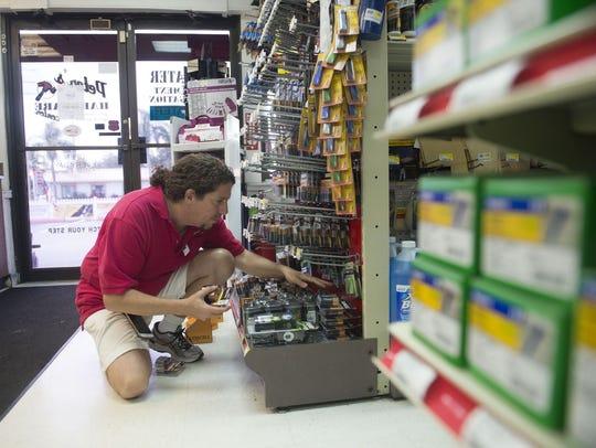 Dozens of patrons shopped Monday for Hurricane Irma