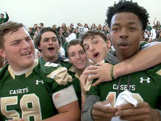 """Red Bank Catholic students show their """"Caseys"""" spirt"""