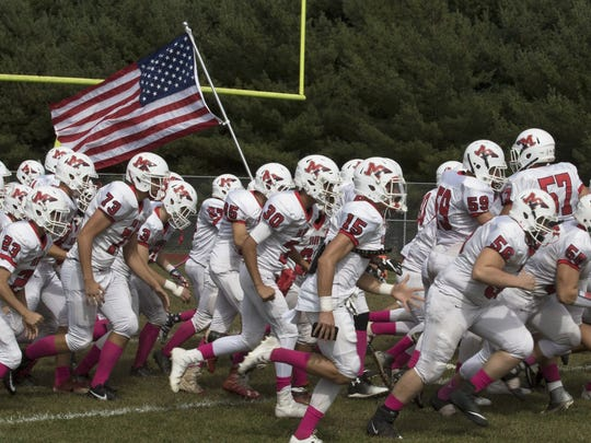 Manalapan Football vs Colts Neck in Colts Neck, NJ on October 7, 2017.   Peter Ackerman