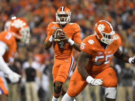 Clemson quarterback Deshaun Watson tied his own school