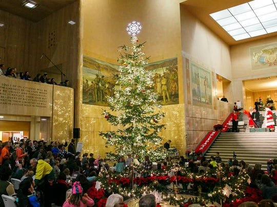State Capitol Tree Lighting Celebration: Tree lighting ceremony featuring a performance by the South Salem High School choir, plus free refreshments and photos with Santa, 5 to 7 p.m. Nov. 27, Oregon State Capitol, 900 Court St. NE, Salem. Free. www.oregoncapitol.com or 503-986-1388