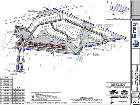 This proposed subdivision off Baldwin Road between