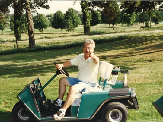 George Vello Nickolaou at Oakland Hills Golf Course in Battle Creek.
