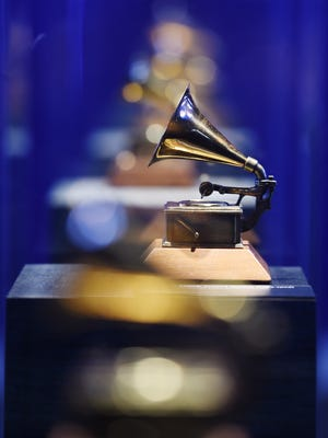Grammy trophies — which have evolved over the decades — are on display at the Grammy Museum Mississippi in Cleveland.