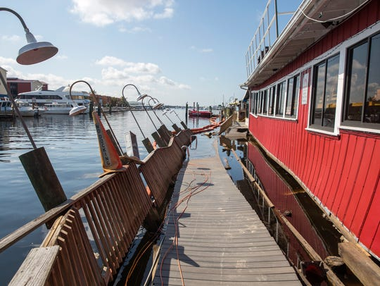 A dock owned by Pure Florida boat tours was left destroyed