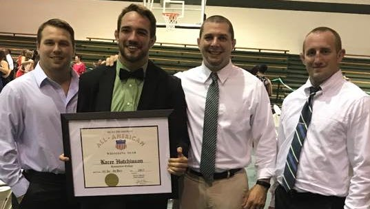 Former Enka wrestler Kacee Hutchinson is Greensboro College's male athlete of the year.