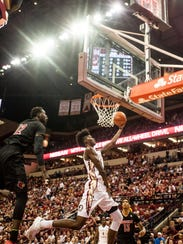Jonathan Isaac attempts a shot during FSU's win over