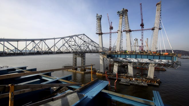 A gap separates the Westchester approach from the main span of the new Tappan Zee Bridge Dec. 13, 2016. Gov. Andrew Cuomo and other officials visited the new bridge to mark the completion of the bridge's concrete towers.