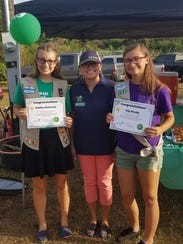 Girl Scout Ambassadors Katelee McCormic and Lily Sheedy