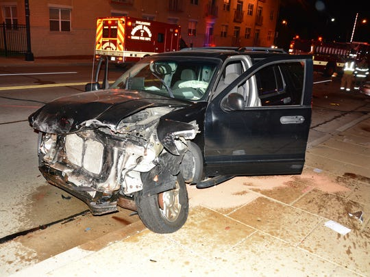 A Ford Explorer driven by Ramone Campbell crashed into