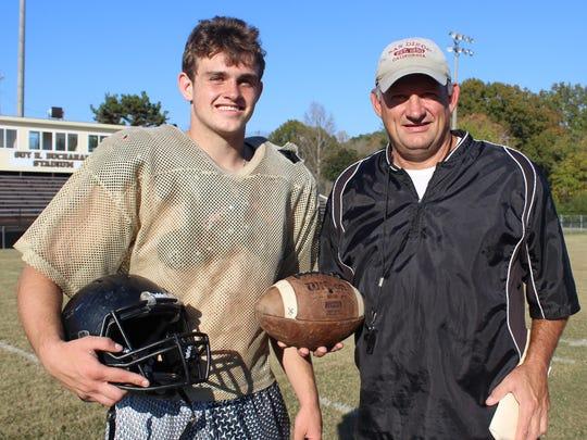 Rick Rice and his son, Preston.