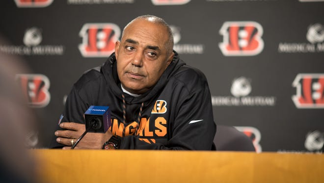 Cincinnati Bengals head coach Marvin Lewis speaks at a press conference Mon., Dec. 18, 2017, the day after another Bengals loss.