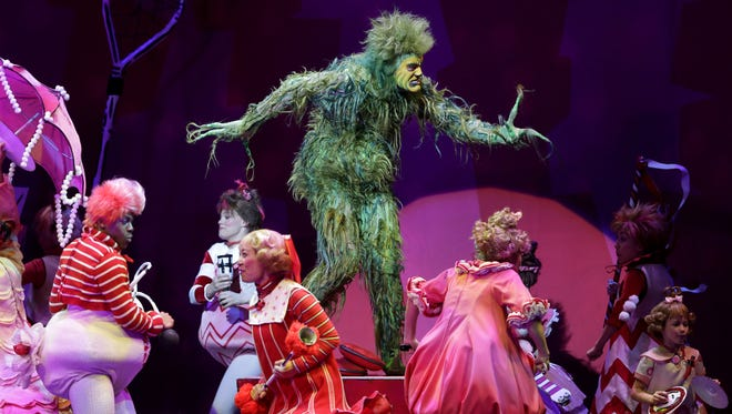 """""""Dr. Seuss' How the Grinch Stole Christmas! the Musical"""" continues its run through Sunday at the Fox Cities Performing Arts Center in Appleton."""