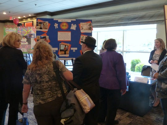 The Bright Beginnings Learning Center's Coding and Robotics Club display drew the attention of attendees at the Innovations in Special Education Awards ceremony at the Westin Princeton at Forrestal Village.