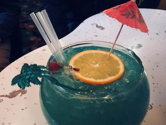 Sip 'n Dip Lounge's Fishbowl drink