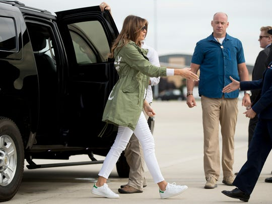 First lady Melania Trump at Andrews Air Force Base,