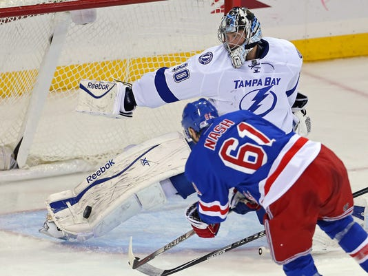 NHL: Tampa Bay Lightning at New York Rangers