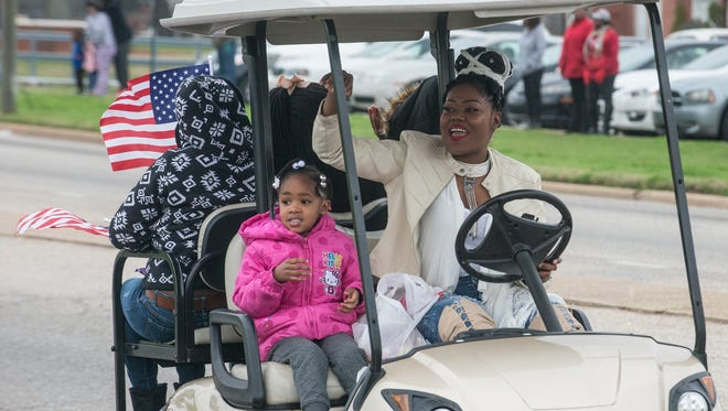 The Lacey-Boyd New Year's Day Parade starts off on West Fairview Avenue in Montgomery, Ala., on  Friday, Jan. 1, 2016.