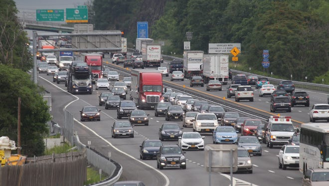Evening rush hour traffic on the state Thruway in West Nyack on Tuesday.