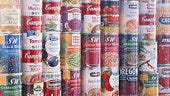 Stack of Food Cans