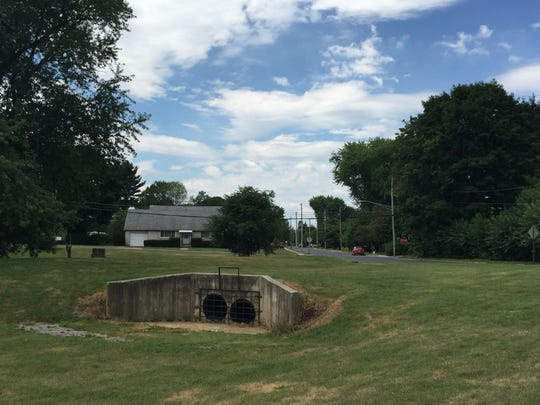 Meadow grass seed and trees will be planted at the Hazel Dike flood control intake at Third Avenue and Elm Street as part of one of four projects Lebanon is undertakingto control stormwater runoff with a $94,000 grant from the state Department of Environmental Protection.
