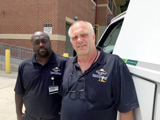 Taylon Twyman, left, and Jeff Gross describe how they
