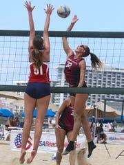 Florida State freshman Francesca Goncalves goes for