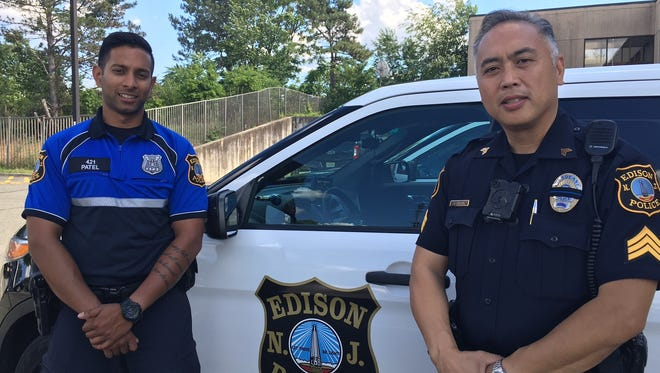 Edison Officer Neel Patel and Edison Sgt. Joseph Luistro hold leadership positions in the New Jersey Asian American Law Enforcement Officers Association, which is celebrating its 20th anniversary this year.