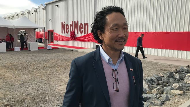 Daniel Yi of MedMen, is shown at the company's cannabis factory on Wednesday, April 11, 2018 east of Reno-Sparks. The 45,000-square-foot facility includes a 26,000-square-foot greenhouse.
