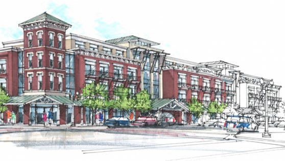 A rendering of the proposed Harpeth Square project.