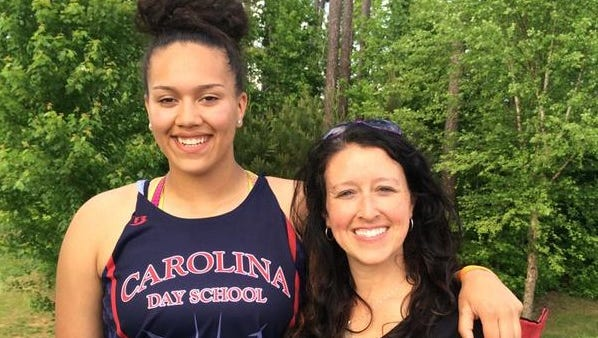 Carolina Day's Halei Gillis won the NCISAA 1-A/2-A girls discus on Friday.