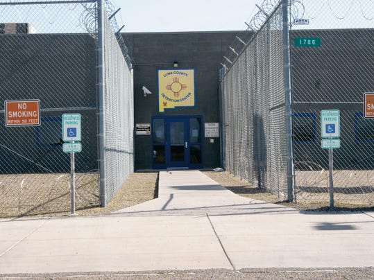 Elena Ruiz - Headlight Photo   The Luna County Detention Center in Deming drew the attention of family members of inmates incarcerated there when an alleged shakedown of cells on Friday drew pepper spray and handcuffs, according to an inmate.