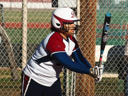 Headlight File Photo   Senior Selena Paez led the team in slugging percentage and also made the highlight reel with her defensive play in left field. Paez was one of four Lady Wildcats named to the 2015 All-District 3-6A Softball Team.