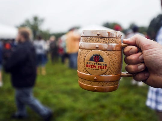 Special Gettysburg Brew Fest mugs were available on Saturday night Aug. 23, 2014 during the first annual Gettysburg Brew Fest.