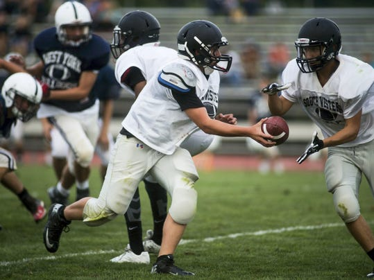 South Western had a more consistent scoring attack than West York in the scrimmage.