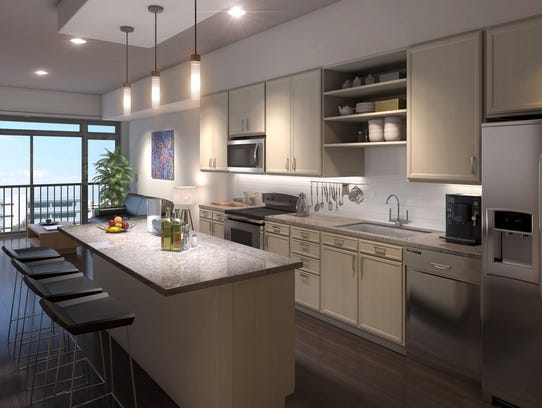 An interior view of a condo planned at the Eighth South