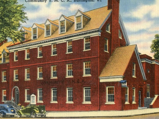 Still a landmark: A supportive community helped raise the funds necessary to open the Greater Burlington YMCA's current home in 1934 after fire destroyed its building at Church and College streets.