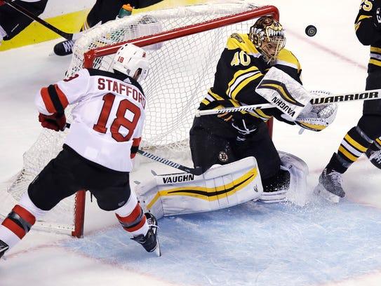 Boston Bruins goaltender Tuukka Rask (40) makes a save