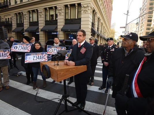 Cuomo at Veterans Parade