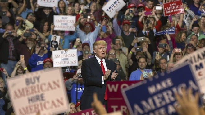 President Trump has continued to connect directly with his base in campaign-style rallies such as this one in Louisville last month.