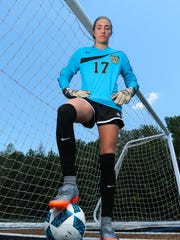 Caroline Embler, T.L. Hanna High School graduate, is the Independent Mail girls soccer player of the year for 2017.