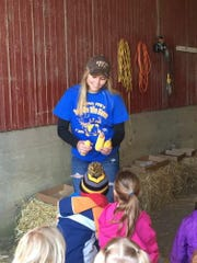 For many FFA chapters the spring Day on the Farm event is a time when they are able to share their knowledge of agriculture with young school children throughout the district.