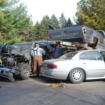 Police & Fire: Eight hurt in three-vehicle crash
