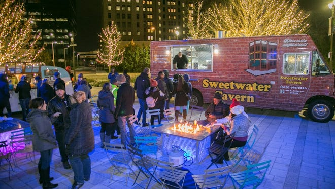 Winter food truck season is under way at several downtown Detroit parks.