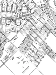 A map of Freetown neighborhood in Lafayette.