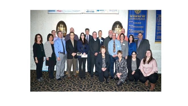 The organizers of the annual Voice of Vineland fundraiser gathered with representatives of various local charities on March 20 during a Vineland Rotary Club meeting to distribute the $51,000 raised at the event in January.
