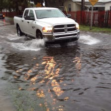 Street flooding in Tarpon Springs