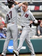 Mississippi State designated hitter Jordan Westburg