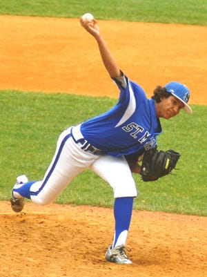 St. Mary's Kenny Quijano pitched well in the Bergen County quarterfinal against St. Joseph.